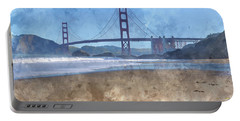 San Francisco Golden Gate Bridge In California Portable Battery Charger