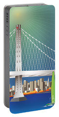 San Francisco New Oakland Bay Bridge Cityscape Portable Battery Charger