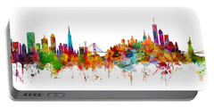 San Francisco New York Skyline Mashup Portable Battery Charger