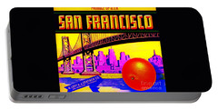Portable Battery Charger featuring the painting San Francisco Oranges by Peter Gumaer Ogden