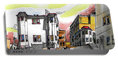 Portable Battery Charger featuring the painting San Francisco Side Street by Terry Banderas