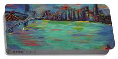 San Francisco Skyline In Sunset Portable Battery Charger