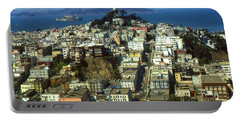 San Francisco - Telegraph Hill And Alcatraz Portable Battery Charger