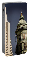 San Francisco Then And Now Portable Battery Charger
