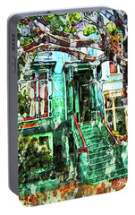 Portable Battery Charger featuring the photograph San Francisco Victorian by Joan Reese