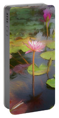 San Juan Capistrano Water Lilies Portable Battery Charger