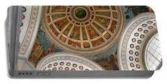San Juan Capital Building Ceiling Portable Battery Charger by Lois Lepisto