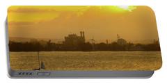San Juan Harbor Sunset Portable Battery Charger