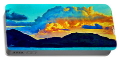 Portable Battery Charger featuring the painting San Juan Seascape by Joan Reese