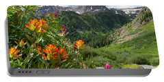 Portable Battery Charger featuring the photograph San Juans Indian Paintbrush Landscape by Cascade Colors