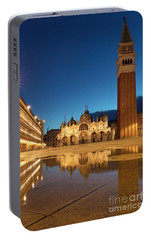 Portable Battery Charger featuring the photograph San Marco Twilight by Brian Jannsen