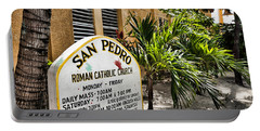 Portable Battery Charger featuring the photograph San Pedro Roman Catholic Church by Lawrence Burry