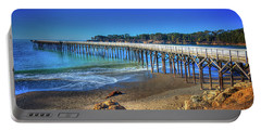 San Simeon Pier California Coast Portable Battery Charger by James Hammond