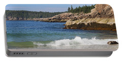 Sand Beach Acadia Portable Battery Charger by Living Color Photography Lorraine Lynch
