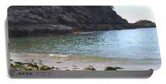Sand Beach At Acadia Portable Battery Charger by Living Color Photography Lorraine Lynch