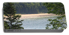 Sand Beach From A Distance Portable Battery Charger by Living Color Photography Lorraine Lynch