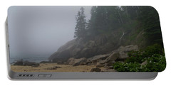 Sand Beach In A Fog Portable Battery Charger