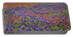 Sand Bluebonnet And Paintbrush Portable Battery Charger