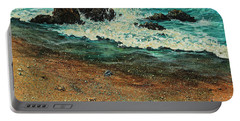 Portable Battery Charger featuring the painting Sand Crabs by Darice Machel McGuire