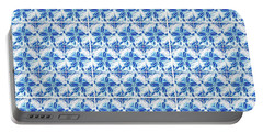 Portable Battery Charger featuring the digital art Sand Dollar Delight Pattern 1 by Monique Faella