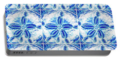 Portable Battery Charger featuring the digital art Sand Dollar Delight Pattern 3 by Monique Faella
