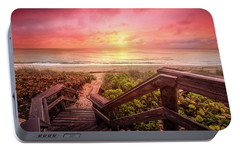 Portable Battery Charger featuring the photograph Sand Dune Morning by Debra and Dave Vanderlaan