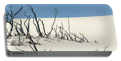 Portable Battery Charger featuring the photograph Sand Dune With Dead Trees by Chevy Fleet