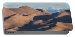 Sand Dunes And Rocky Mountains Panorama Portable Battery Charger by James BO Insogna