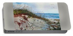 Sand Dunes And Sea Oats Portable Battery Charger