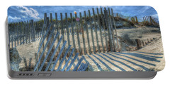 Sand Fence Portable Battery Charger by Greg Reed