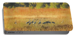 Sandhill Cranes, Indiantown Portable Battery Charger