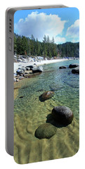 Portable Battery Charger featuring the photograph Sand Language In Winter by Sean Sarsfield