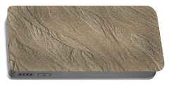 Sand Patterns Portable Battery Charger by Living Color Photography Lorraine Lynch