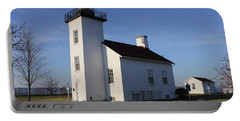 Sand Point Lighthouse In Escanaba Portable Battery Charger