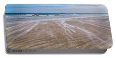 Portable Battery Charger featuring the photograph Sand Swirls On The Beach by John M Bailey