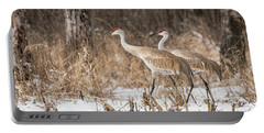Sandhill Crane 2016-4 Portable Battery Charger by Thomas Young