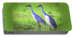 Sandhill Crane Couple Portable Battery Charger