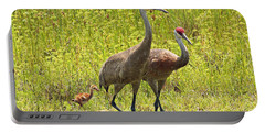 Sandhill Crane Family Portable Battery Charger