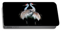 Sandhill Crane Mirror Image Portable Battery Charger