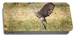 Portable Battery Charger featuring the photograph Sandhill Crane Morning Stretch by Ricky L Jones