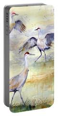 Wetlands Courtship - Sandhill Cranes Portable Battery Charger