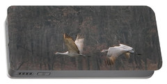 Portable Battery Charger featuring the photograph Sandhills In Flight by Shari Jardina