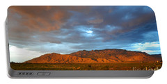 Sandia Mountains Colorful Sunset Portable Battery Charger by Andrea Hazel Ihlefeld