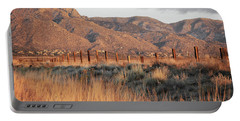 Sandia Mountains Rustic Fence Countryside Portable Battery Charger by Andrea Hazel Ihlefeld