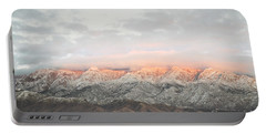 Sandia Mountains Rustic Sunset Landscape Portable Battery Charger by Andrea Hazel Ihlefeld