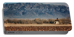 Portable Battery Charger featuring the photograph Sandias - Los Poblanos Fields by Nikolyn McDonald