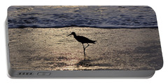 Sandpiper On A Golden Beach Portable Battery Charger