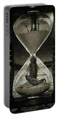 Sands Of Time ... Memento Mori - Monochrome Portable Battery Charger