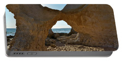 Sandstone Arch In Gale Beach. Algarve Portable Battery Charger
