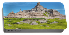 Portable Battery Charger featuring the photograph Sandstone Battlestar by John M Bailey